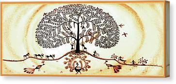 Beautiful Tree Of Life Canvas Print by Anjali Vaidya