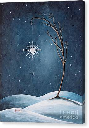 Beautiful Winterland By Shawna Erback Canvas Print by Shawna Erback