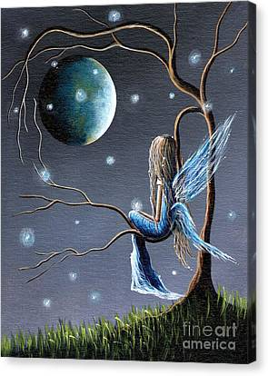 Fairy Art Print - Original Artwork Canvas Print by Shawna Erback