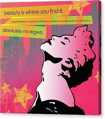 Beauty Is Where You Find It Canvas Print by dreXeL