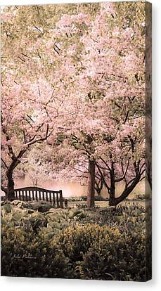 Beauty Of A Spring Garden Canvas Print by Julie Palencia