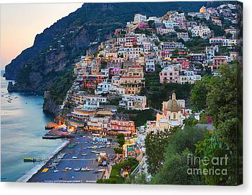 Beauty Of The Amalfi Coast  Canvas Print by Leslie Leda