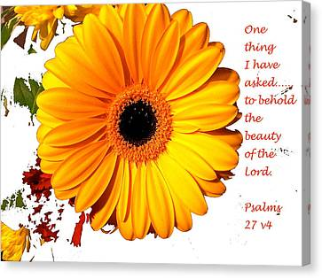 Beauty Of The Lord Canvas Print by Monique Grant-Patel