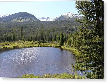 Beaver Ponds Rocky Mountains Np Canvas Print by Christiane Schulze Art And Photography