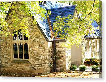 Beck Chapel In Early Autumn Canvas Print by Andrea Lynch