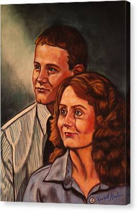 Becky And Ron Yearout Canvas Print by Kendall Kessler