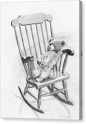 Becky's Teddy Canvas Print by Dan Redmon