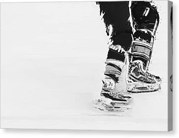 Becomes The Ice Canvas Print by Karol Livote