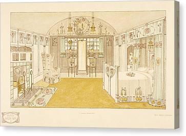 Bedroom, Logan George Canvas Print by George Logan