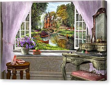 Bedroom View Canvas Print by Dominic Davison