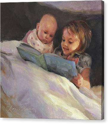Bedtime Bible Stories Canvas Print by Anna Rose Bain