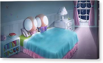 Bedtime Story Canvas Print by Dana Alfonso