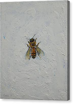 Bee Canvas Print by Michael Creese