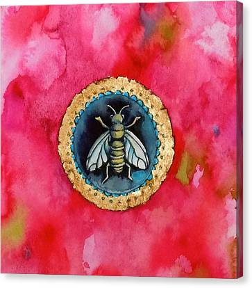 Bee Seal Canvas Print by Roleen  Senic