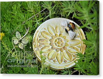 Bee-ware Canvas Print by Amanda  Sanford