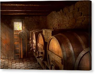 Beer Maker - The Brewmasters Basement Canvas Print by Mike Savad