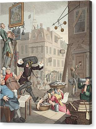 Beer Street, Illustration From Hogarth Canvas Print by William Hogarth