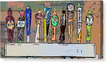 Beer Taps Duval Street Key West Pop Art Style Canvas Print by Ian Monk
