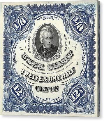 Beer Tax Stamp Canvas Print by Jon Neidert