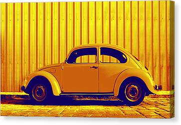 Beetle Pop Gold Canvas Print by Laura Fasulo