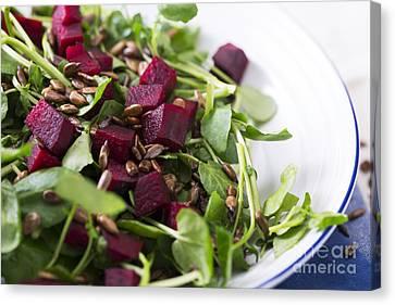 Beetroot Salad Canvas Print by Charlotte Lake