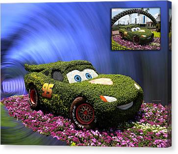 Before And After Sample Art 29 Floral Lightning Mcqueen Canvas Print by Thomas Woolworth