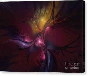 Before Dawn-fractal Art Canvas Print by Karin Kuhlmann