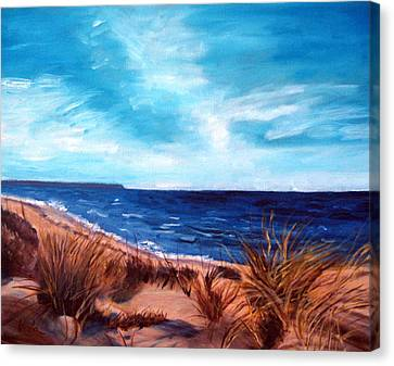Before The Tumble At Chapin Beach Canvas Print by Viola Holmgren
