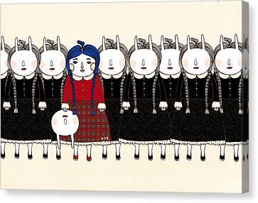 Beginning Canvas Print by Yoyo Zhao