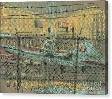 Behind The Fence Canvas Print by Donald Maier