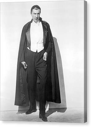 Bela Lugosi In Dracula  Canvas Print by Silver Screen