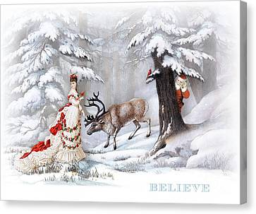 Believe Canvas Print by Cindy Garber Iverson