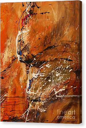Believe In Dreams - Abstract Art Canvas Print by Ismeta Gruenwald