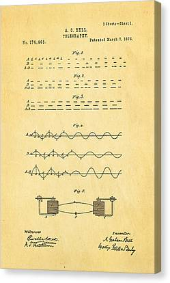 Bell Telephone Patent Art 1876 Canvas Print by Ian Monk