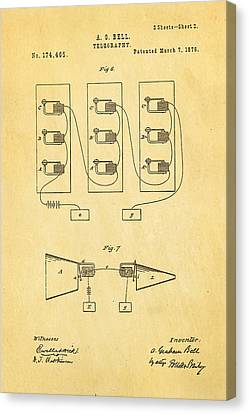 Bell Telephone Patent Art 2 1876 Canvas Print by Ian Monk