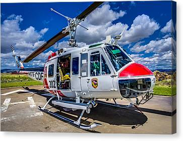 Bell Uh-1super Huey Close-up Canvas Print by Scott McGuire