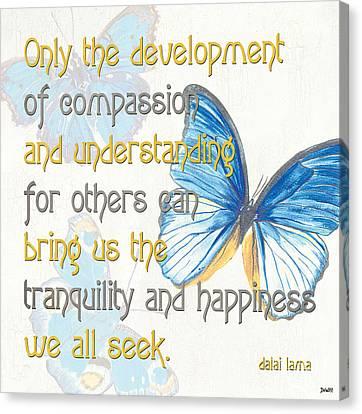 Bella Butterflies 1 Canvas Print by Debbie DeWitt