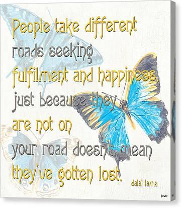 Bella Butterflies 2 Canvas Print by Debbie DeWitt