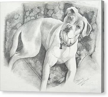 Bella My Pup Canvas Print by Joette Snyder