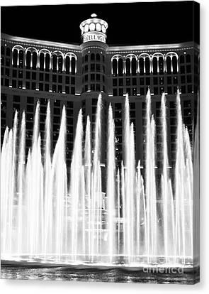 Bellagio Fountains IIi Canvas Print by John Rizzuto