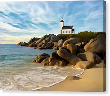 Belle Isle Light Canvas Print by James Charles