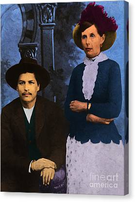 Belle Starr And Blue Duck 20130514 Canvas Print by Wingsdomain Art and Photography