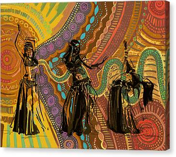 Belly Dancer Motifs And Patterns Canvas Print by Corporate Art Task Force
