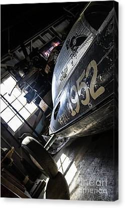 Belly Tanker - Old Crow Speed Shop- Metal And Speed Canvas Print by Holly Martin