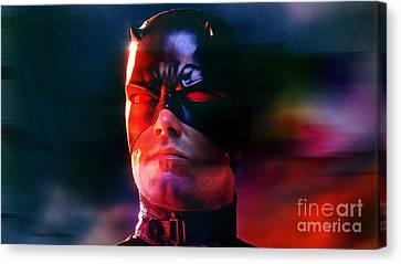 Ben Affleck Daredevil Canvas Print by Marvin Blaine