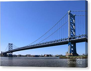 Ben Franklin Bridge Canvas Print by Olivier Le Queinec
