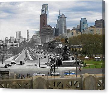 Ben Franklin Parkway Canvas Print by Eric Nagy