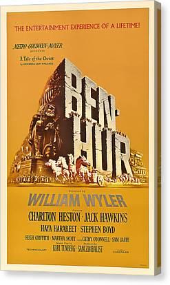 Ben Hur Movie Poster Canvas Print by Mountain Dreams