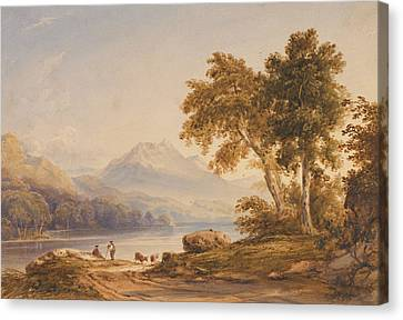 Ben Vorlich And Loch Lomond Canvas Print by Anthony Vandyke Copley Fielding