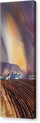 Benbulbin Farm Canvas Print by Roland Byrne